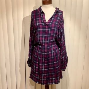 NWT Express Midi Shirt Dress